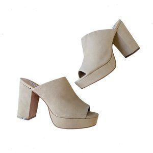 STEVE MADDEN Platform Sandal Mules 10